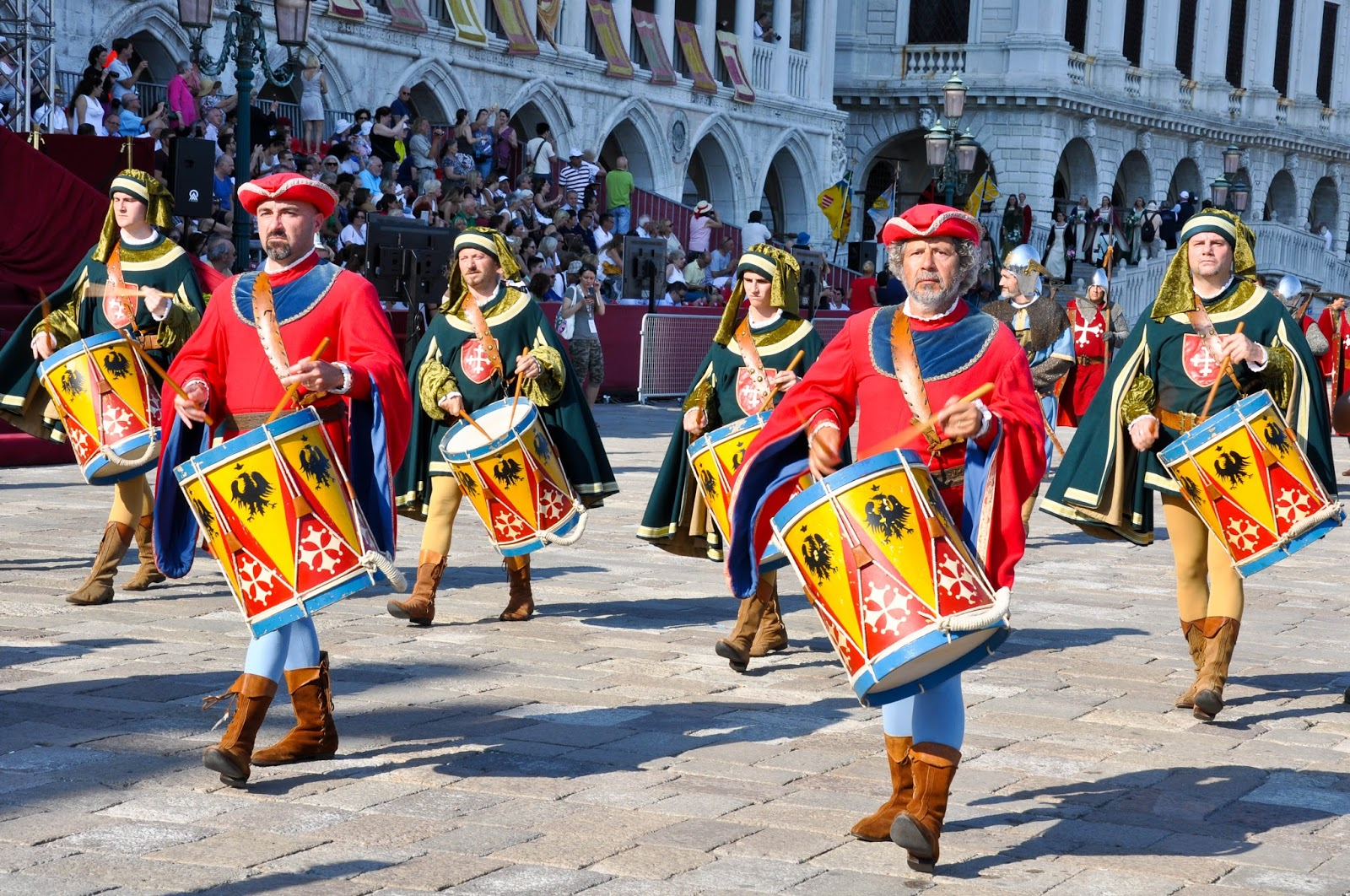 Pisa's drummers, Historical Parade, Regatta of the Ancient Maritime Republics, Venice, Italy