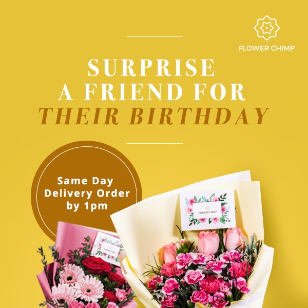 Flower Chimp, free flower delivery, flower delivery, online florist, online florist in Malaysia, say it with flowers, discount voucher code