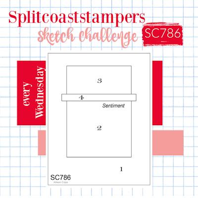 Splitcoaststampers Card Sketch Challenge 786