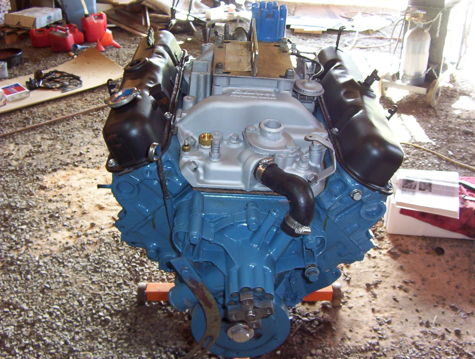 1974 Dodge Charger Painting The Engine Compartment And Motor