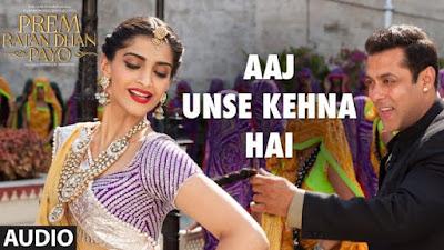 Aaj Unse Kehna Hai Hd Video Indian Song Of Prem Ratan Dhan Payo Movie 2015 Watch Online Replica