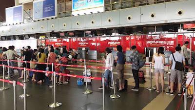 Các quầy làm thủ tục chuyến bay của Vietjet đã hoạt động bình thường trở lại sau sự việc nhân viên HGS đồng loạt nghỉ ốm