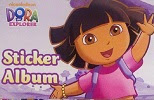 Image: Dora The Explorer Sticker Album with 8 Sticker Sheets