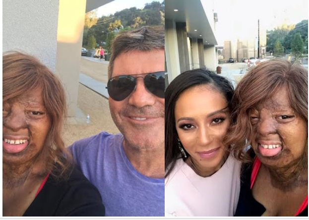 Beautiful photos of Sosoliso plane crash survivor, Kechi Okwuchi with Simon Cowell and Mel B