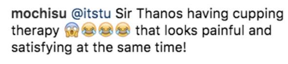 'Thanos' Buat Bekam, Peminat Menggelabah