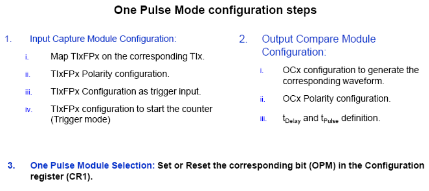 cube mx timer one pulse mode