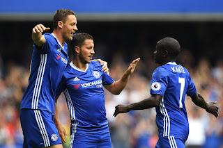 Hazard menginspirasi kemenangan Chelsea