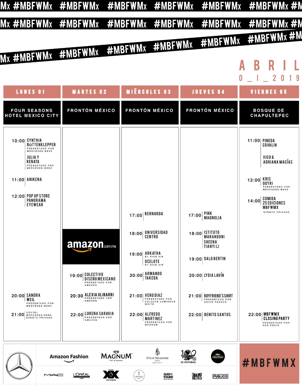GeekMarloz Mercedes Benz Fashion Week México (1-5 abril)