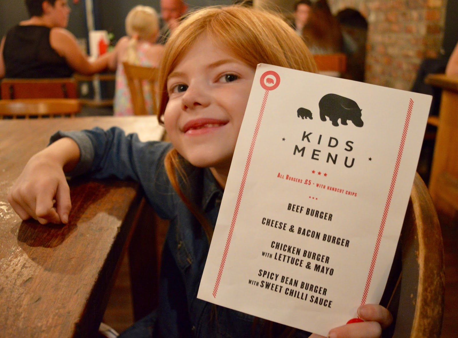 The Fat Hippo Underground with Kids | Simply the Best Burgers in Newcastle - children's menu