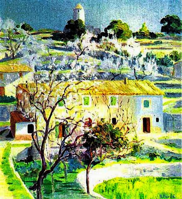 Bartomeu Ferrá i Joan, Paisaje de Galilea, Paisajes de Mallorca, Mallorca en Pintura, Mallorca Pintada