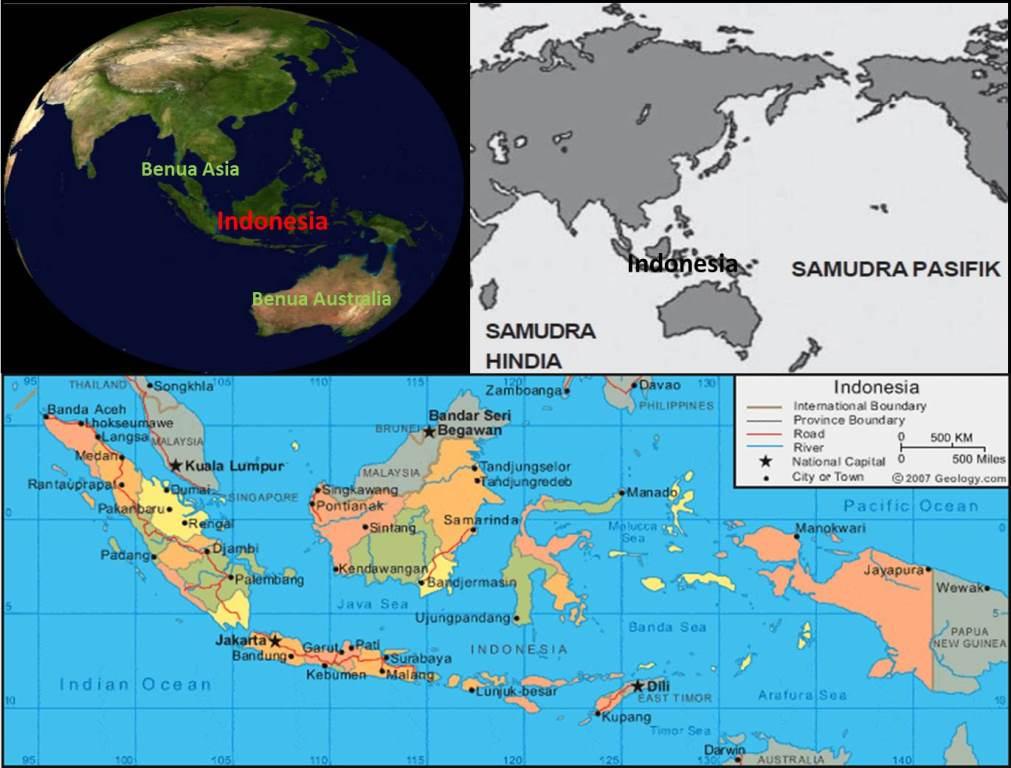 Pengertian Letak Geografis Astronomis Wilayah Indonesia Gambar Peta Benua