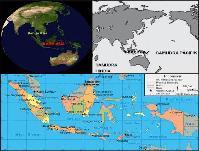 contoh penerapan arti letak geografis dan astronomis