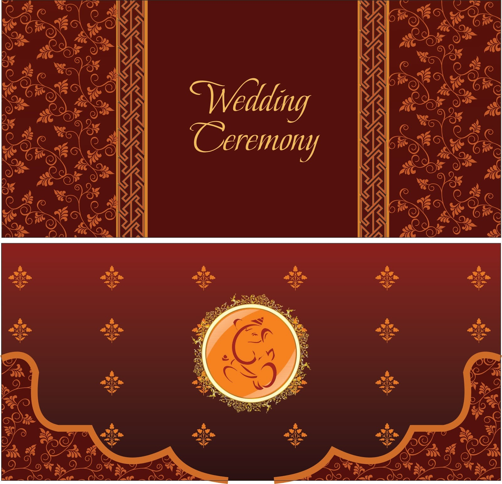 Hindu Wedding Card Graphic Design Cdr File Calligraphy