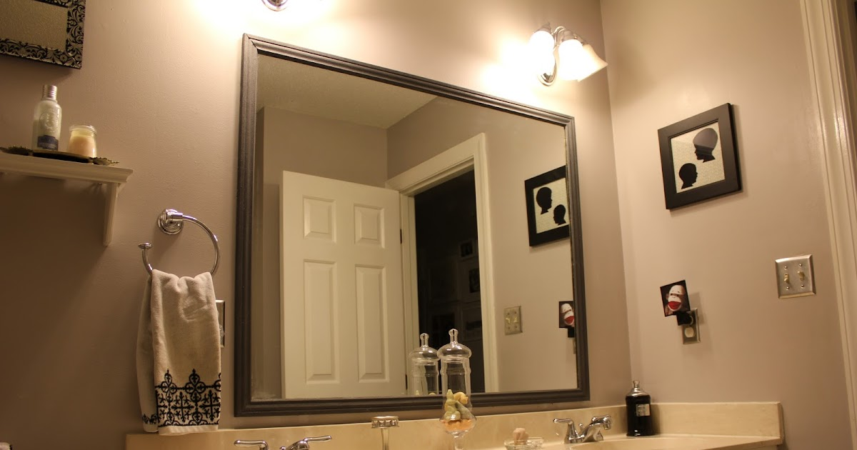 Peahen Pad Framing An Existing Bathroom Mirror