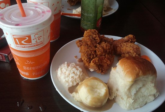 Makan di Radix Fried Chicken