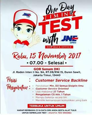 Lowongan Customer Services JNE