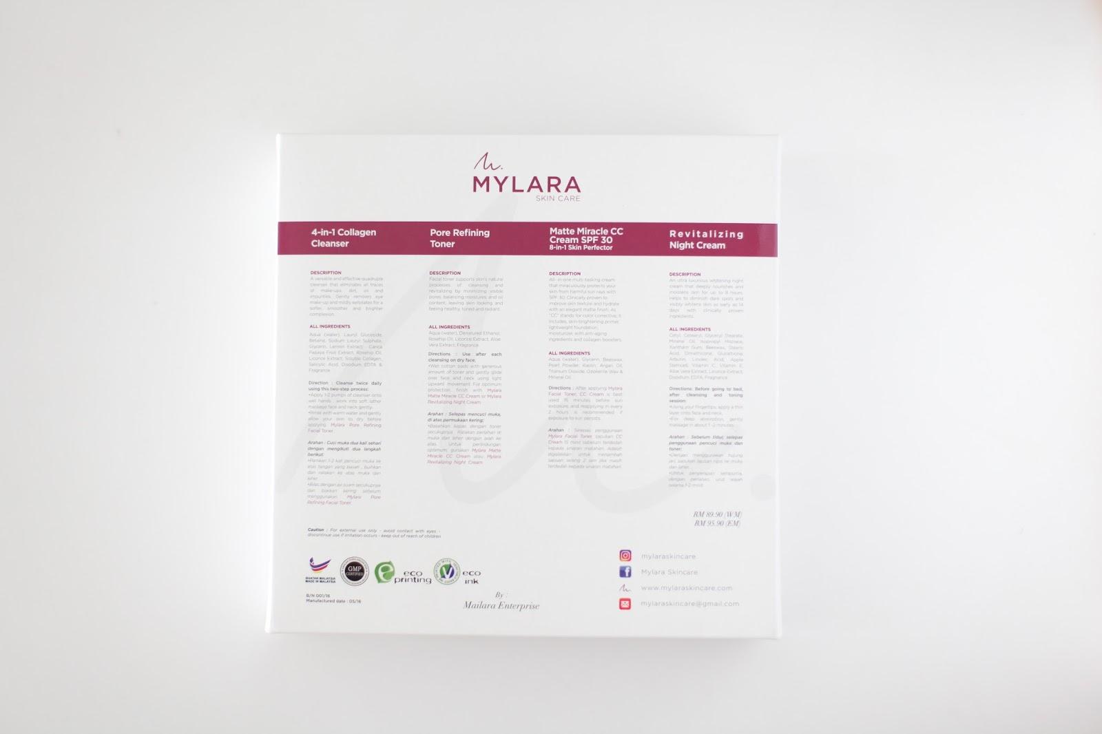 PRODUK MYLARA SKINCARE MENYEMPURNAKAN KULIT SECARA 4-IN-1