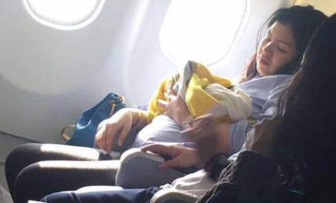 filipino woman delivers baby airplane dubai