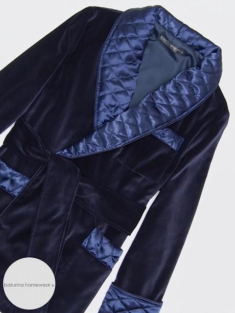 mens smoking jacket robe velvet navy blue quilted silk dandy dressing gown english gentleman style victorian smoker robes preppy bathrobe lounging sleeping