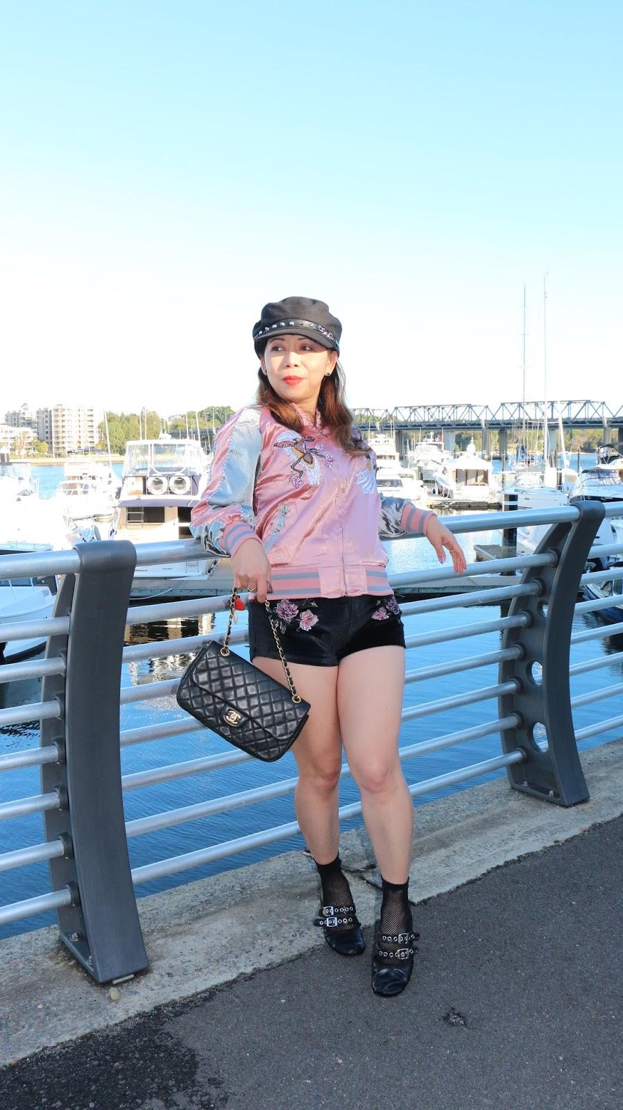 Zaful velvet shorts