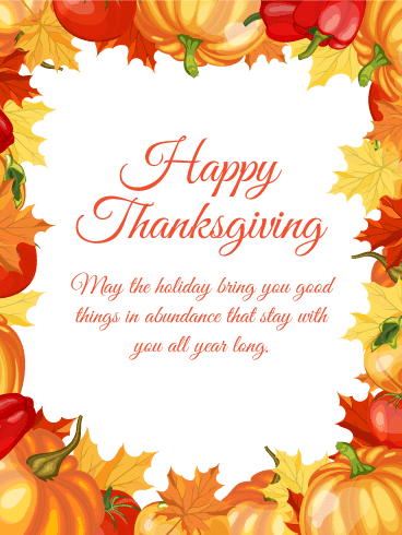 Happy Thanksgiving Card 2018