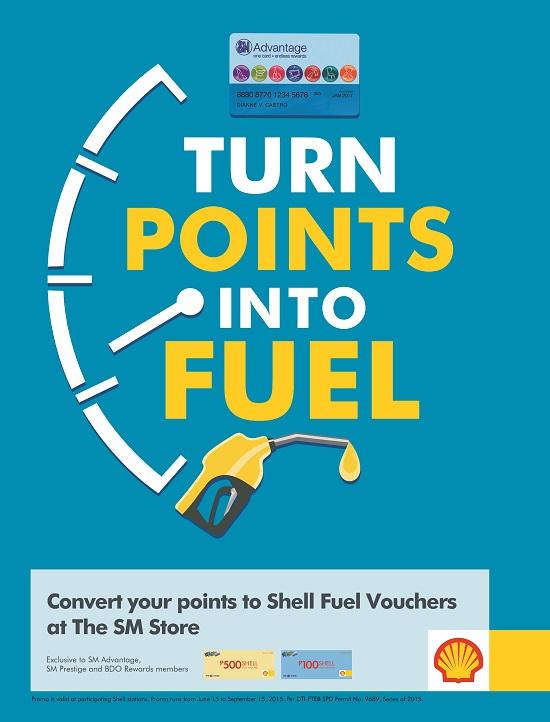 Convert your SM Advantage points to Shell fuel vouchers