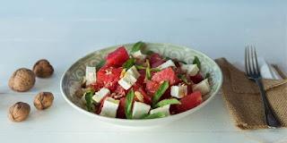 peynirli karpuz salatası tarifi, enfes peynirli karpuz salatası tarifleri, KahveKafeNet
