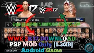 Highly Compressed WWE 2k17 in 1.3GB For Android MOD