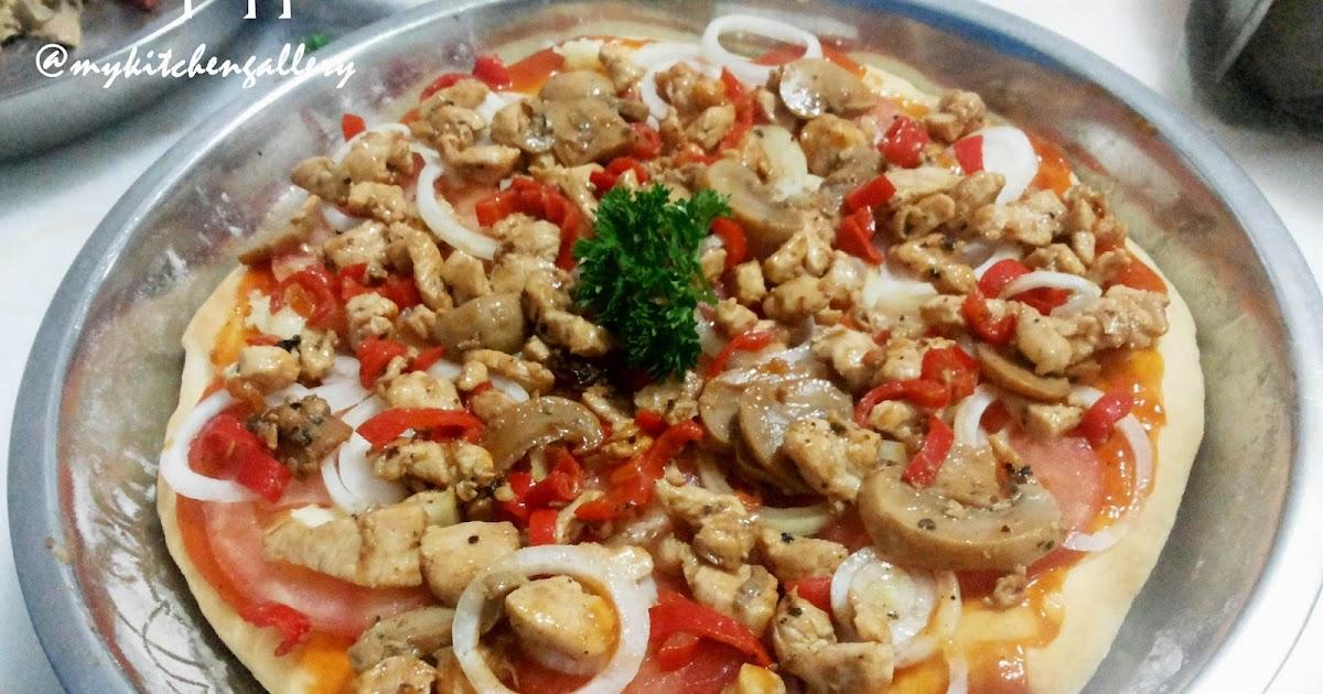 Lynn S Kitchen Blackpepper Chicken Pizza Dengan Roti Pizza Tanpa Ulen