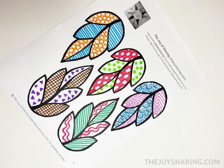 Free paper leaf printable