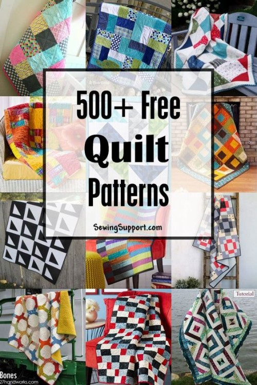 Free Quilt Patterns - Over 500 designs