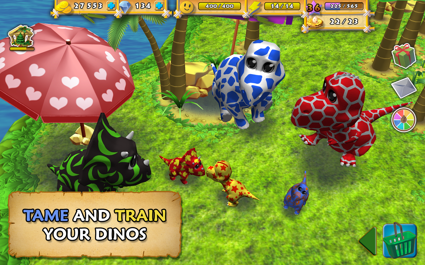 Happy Dinos MOD Unlimited MONEY APK - AndroPalace