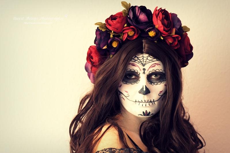 dia de los muertos makeup sugar skull makeup diy blumenkranz nicest things. Black Bedroom Furniture Sets. Home Design Ideas