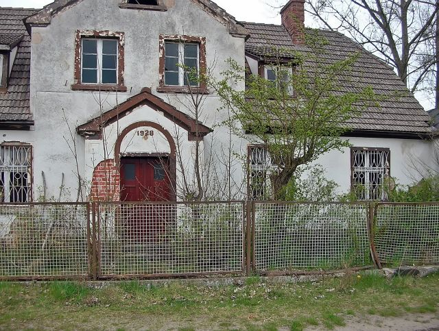 dom, budynek, ruina, drzwi