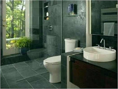 Bathroom Ideas With Stacked Stone.