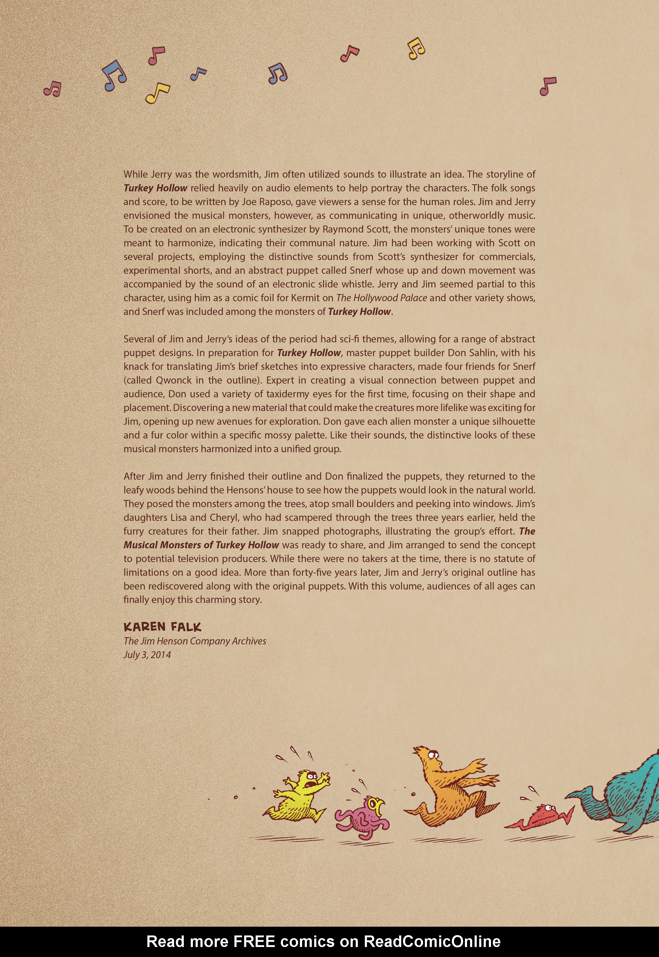 Read online Jim Henson's The Musical Monsters of Turkey Hollow comic -  Issue # Full - 7