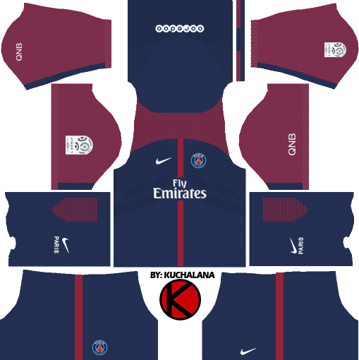 Paris Saint Germain PSG Kits 2017 2018