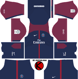 Paris Saint-Germain (PSG) kits 2017/2018 - Dream League Soccer
