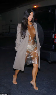 Kim kardashian in Plastic dress