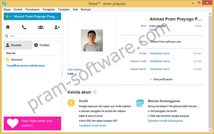 Screenshot Skype Terbaru