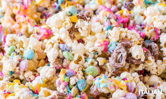Tray of Bunny Bait Funfetti Popcorn