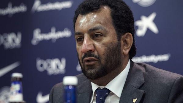 Al-Thani agradece las palabras de Jesús Gámez por los ascensos de los dos equipos
