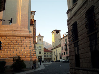 The pretty Piazza Doumo in Belluno