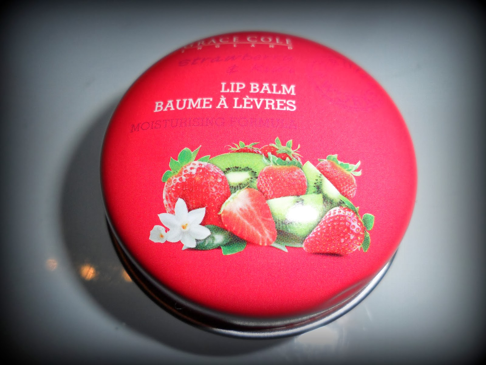 Grace Cole Lip Balm, Lip Balm, Winter Beauty Products, British Beauty Brands, Strawberry & Kiwi Lip Balm