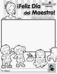 Imagen Por El Día Del Día Del Maestro Para Colorear Imagenes Por