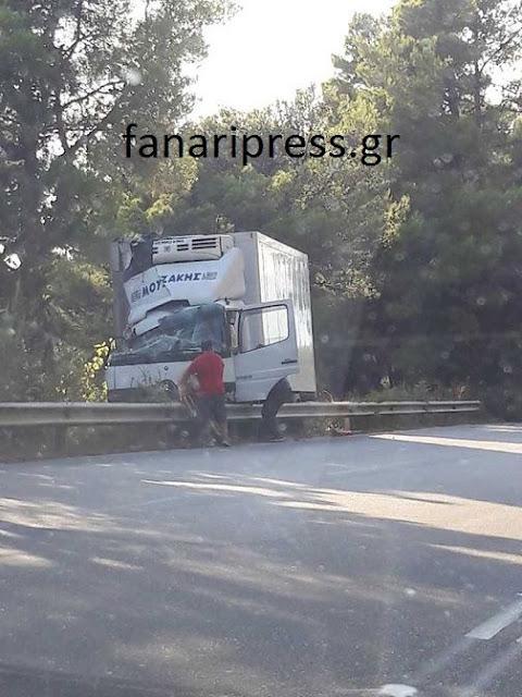 Πρέβεζα: Eκτροπή Φορτηγού Στη Λούτσα Πρέβεζας[Φωτο]