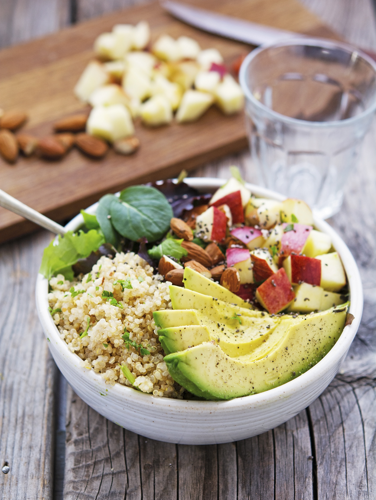 Quinoa Avocado and Apple Detox Salad