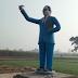 अंबेडकर प्रतिमा को अपराधियों ने किया क्षतिग्रस्त, जनता में आक्रोश