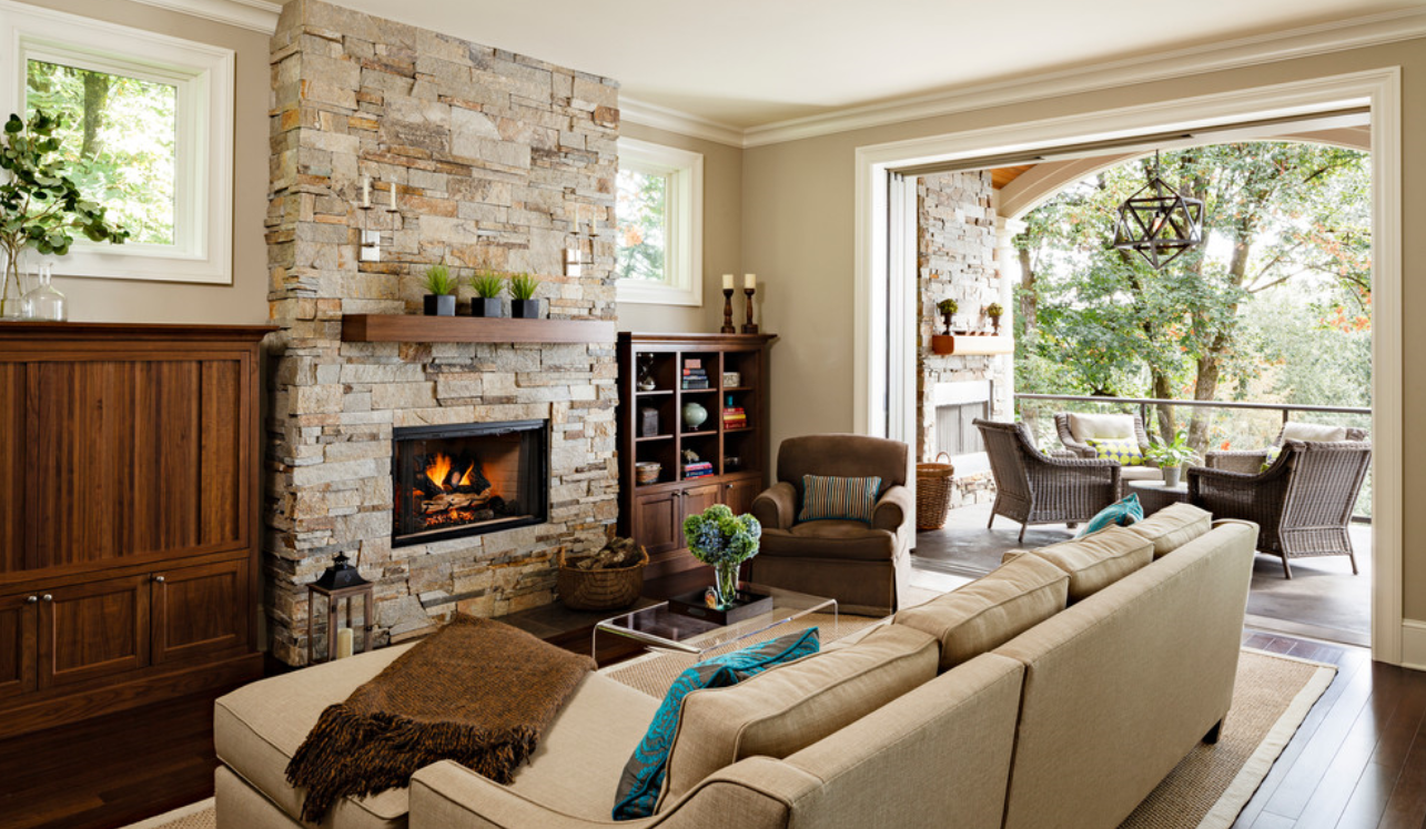 How To Decorate With A Stacked Stone Fireplace 6 Designer