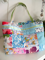 custom made fitted faux patchwork bag | http://panpancrafts.blogspot.de/